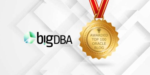 BigDBA is on the Top 100 Oracle Blogs list.